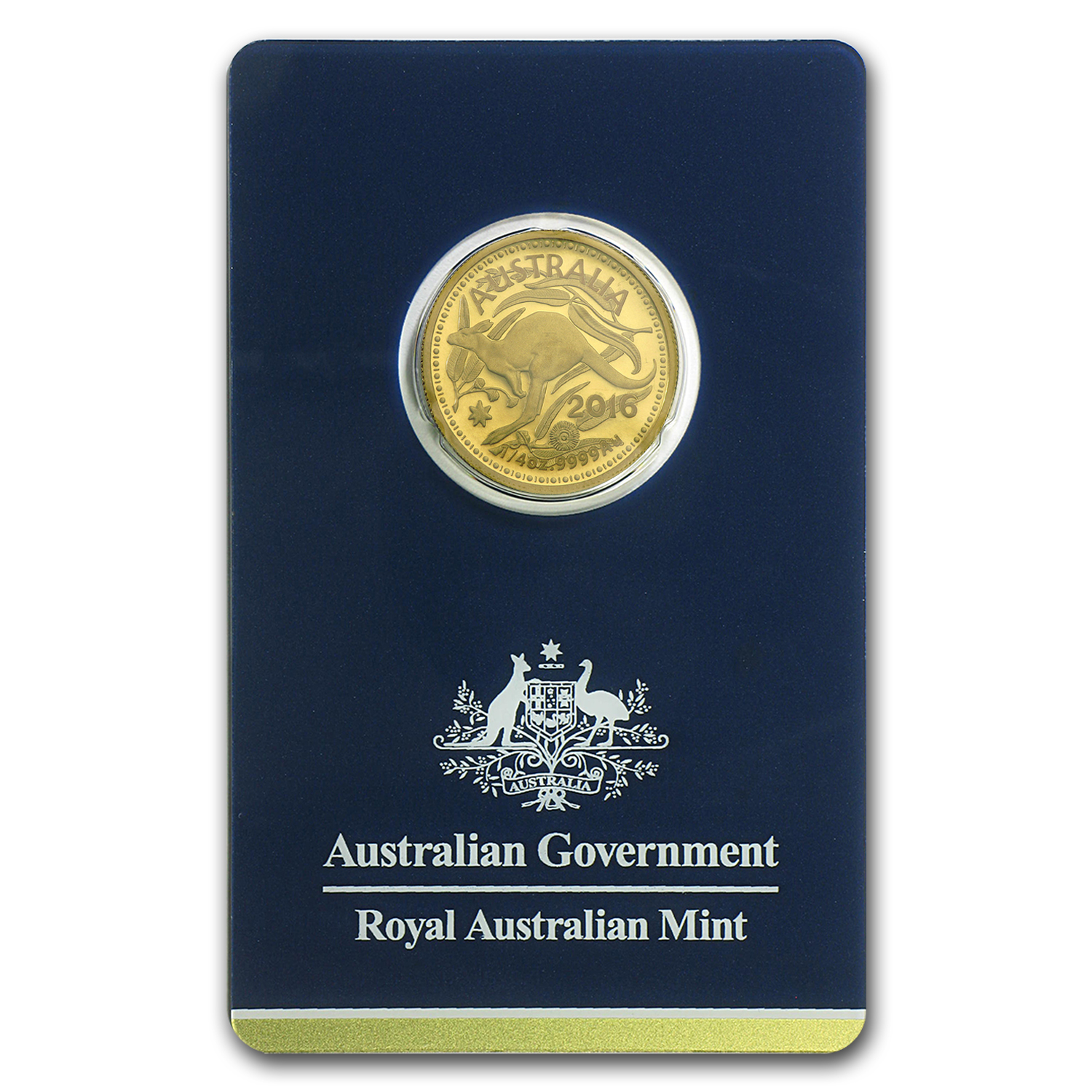 2016 Australia 1/4 oz Gold RAM Kangaroo (In Assay)