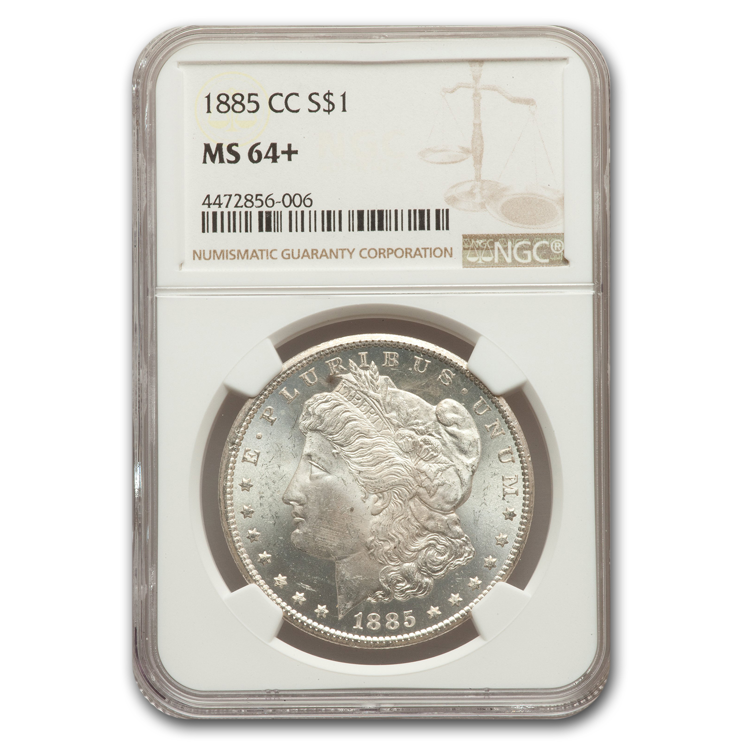 1885-CC Morgan Dollar MS-64+ NGC