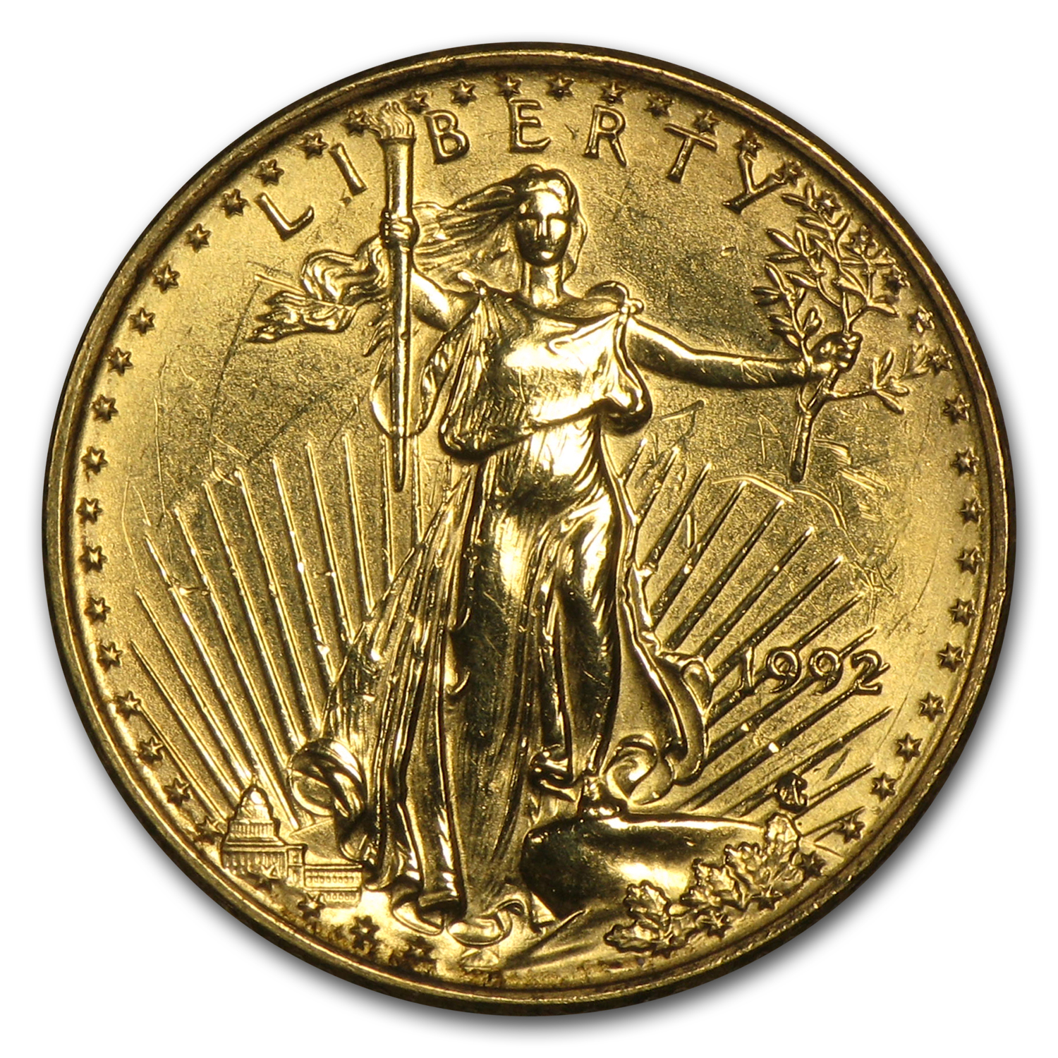 1/10 oz Gold American Eagle (Abrasions)