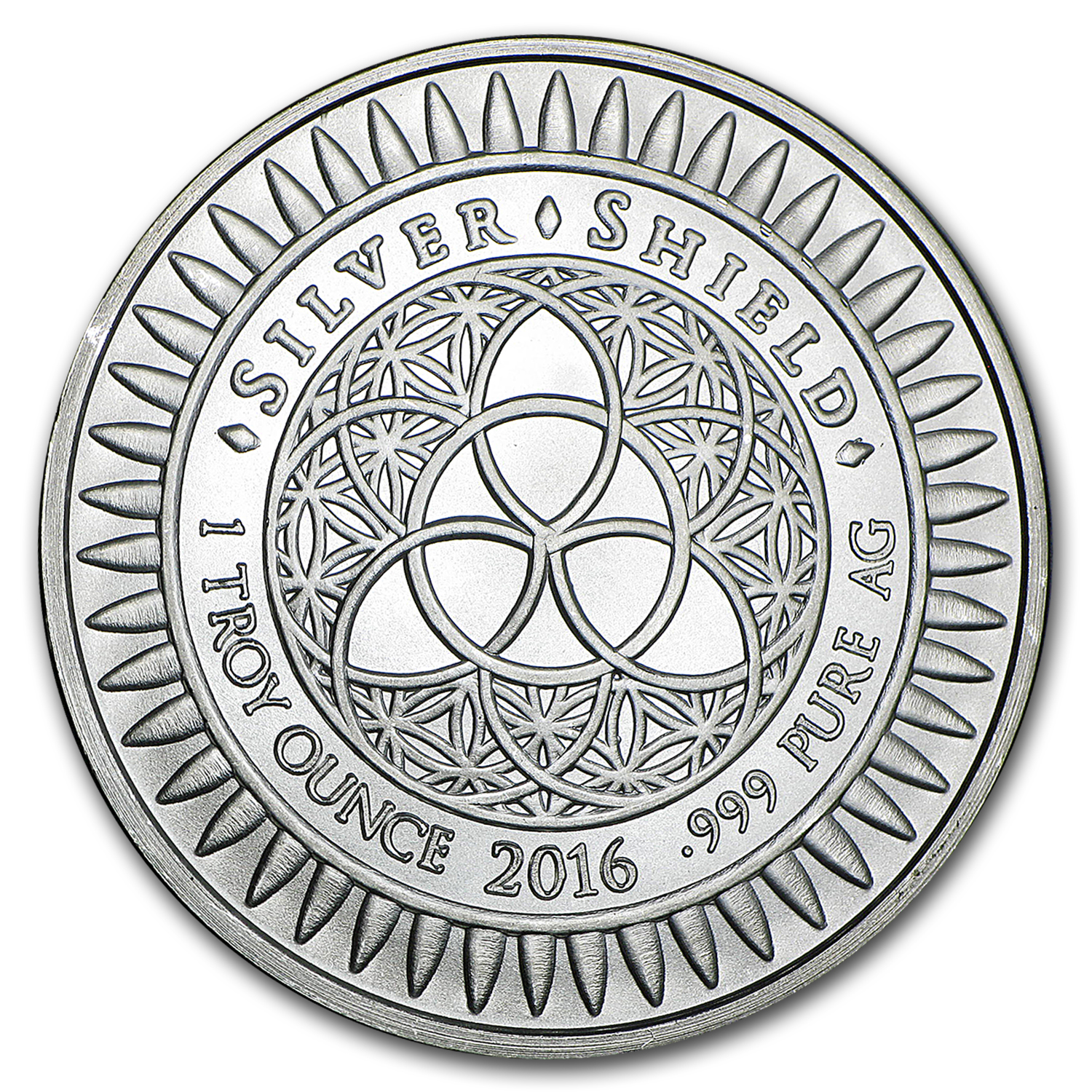 2016 1 oz Silver Shield Round - Year of the Monkey