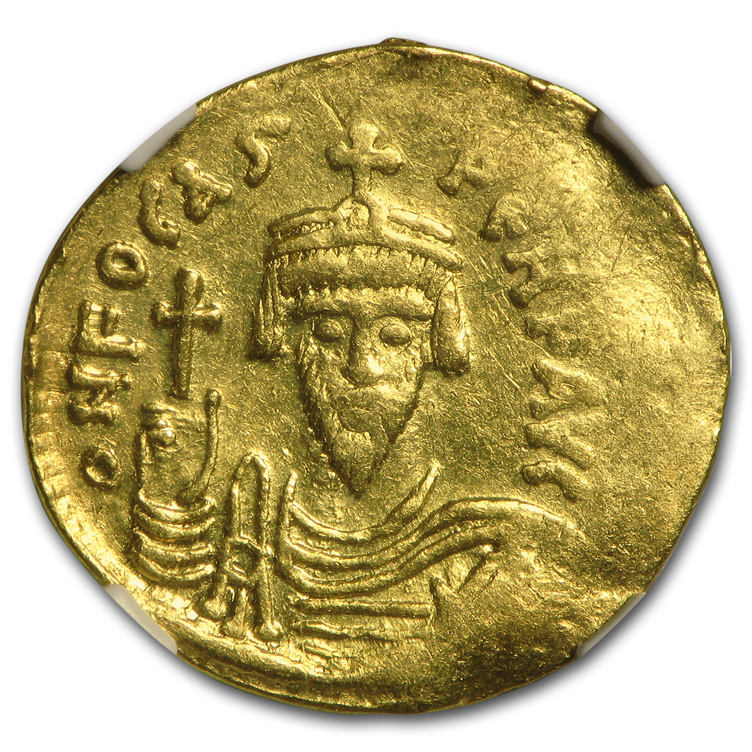 Byzantine Gold Emperor Phocas (602-610 AD) XF NGC