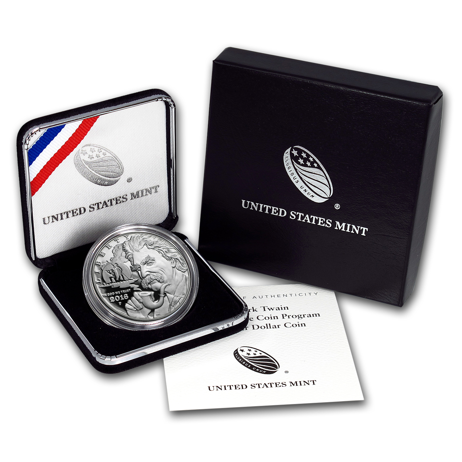 2016-P Mark Twain $1 Silver Commem Proof (w/Box & COA)