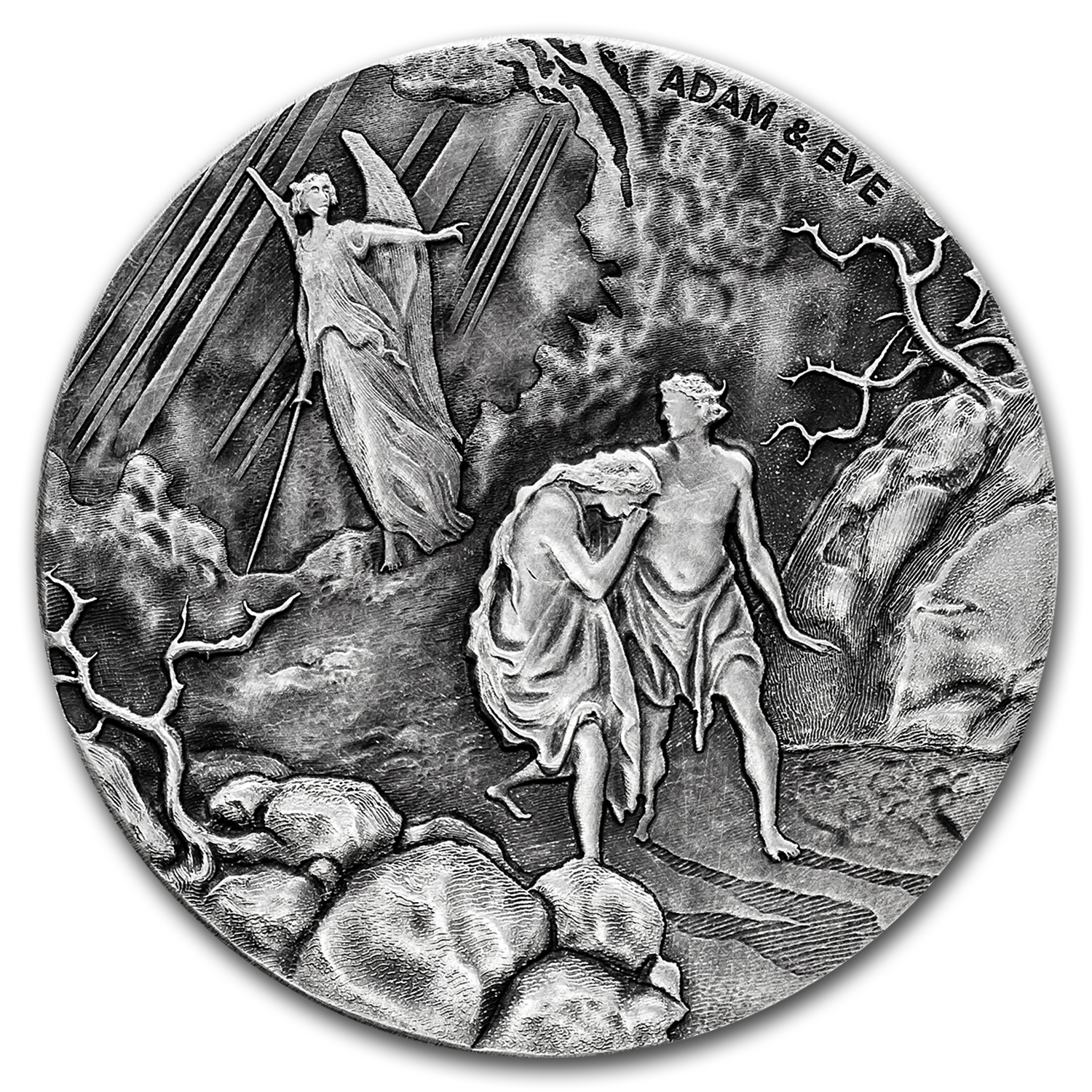 2016 2 oz Silver Coin - Biblical Series (Adam and Eve)