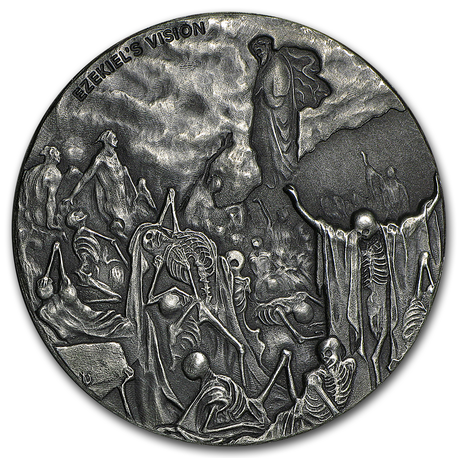 2016 2 oz Silver Coin - Biblical Series (Valley of Dry Bones)