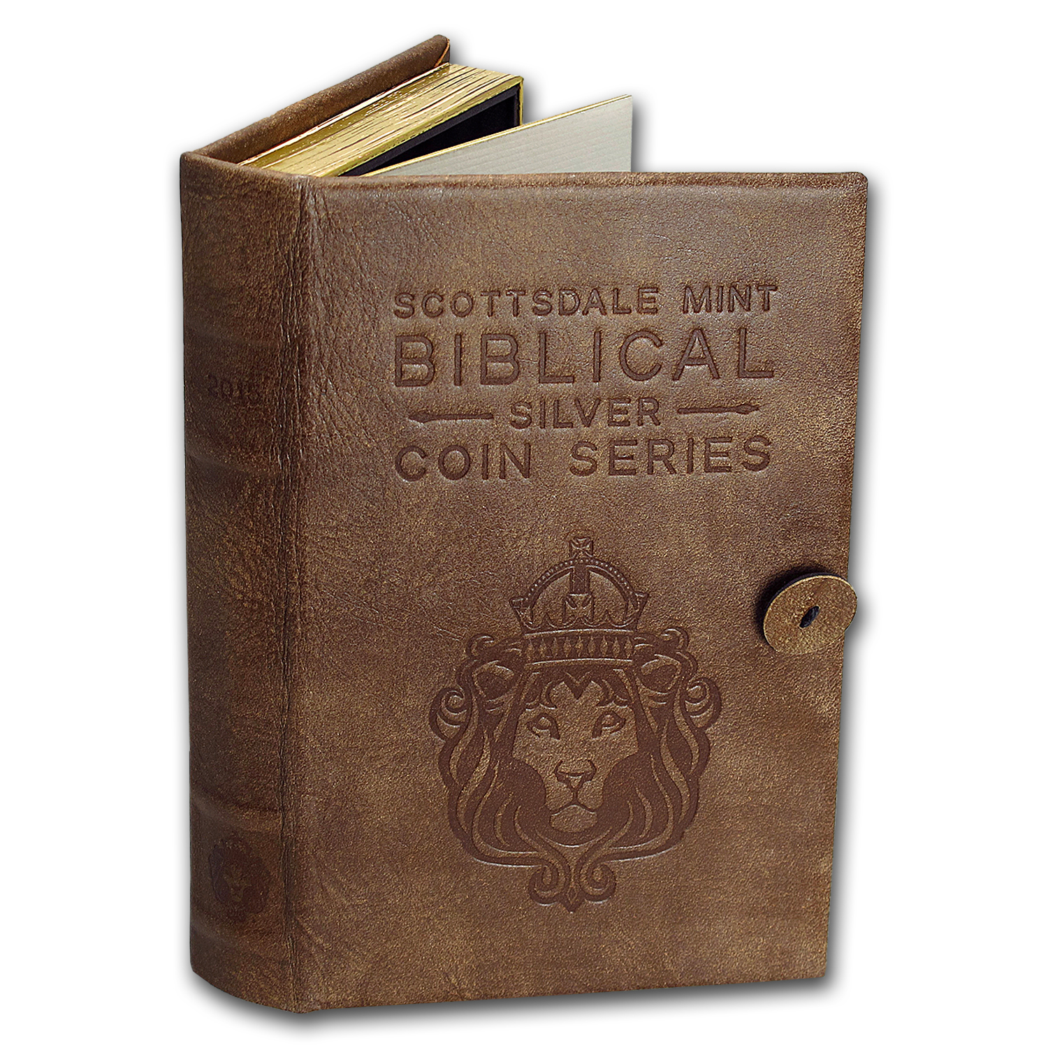 Leather 6-Coin Collector's Album - 2016 Biblical Series
