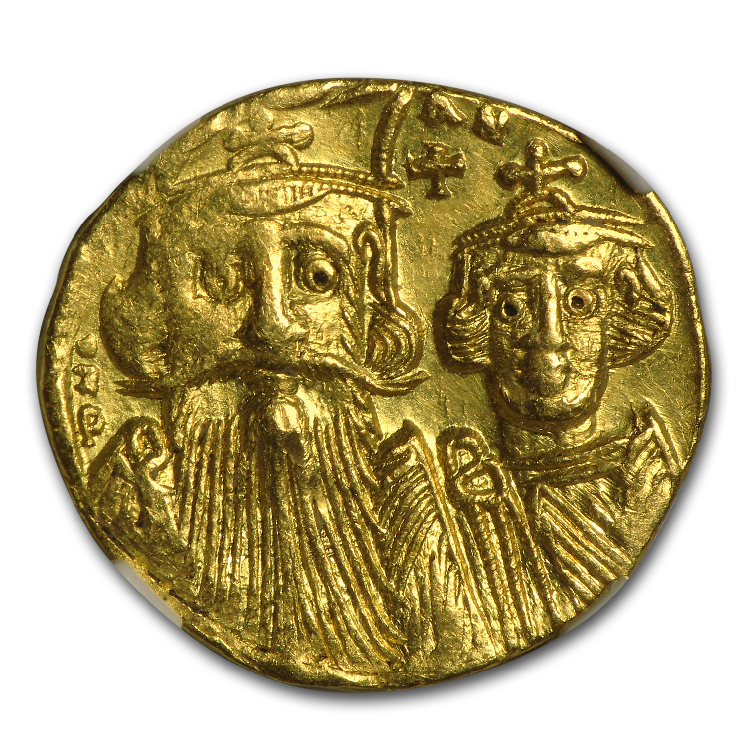 Byzantine Gold Constans II, Constant. IV (654-668 AD) AU NGC