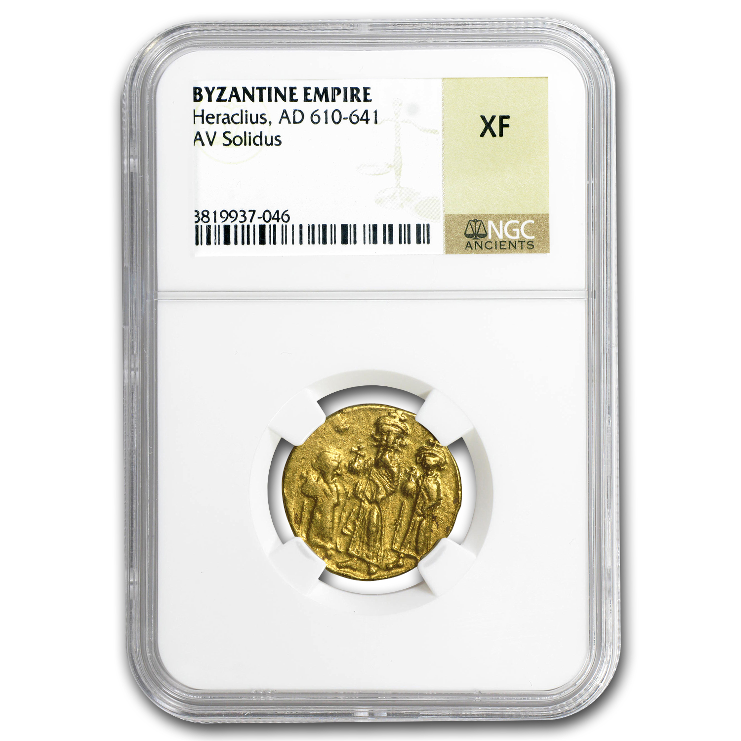 Byzantine Gold Emperor Heraclius (610-641 AD) XF NGC