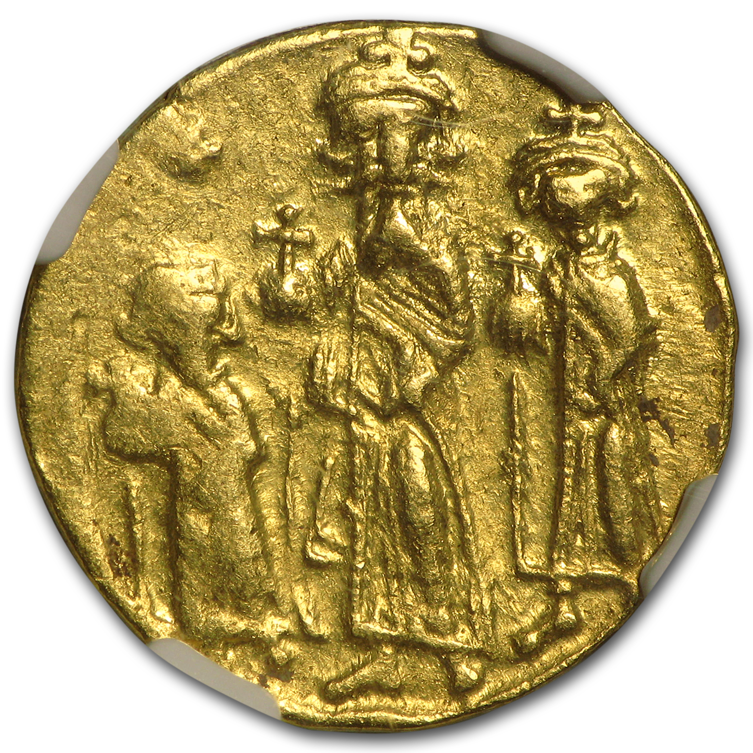 Byzantine Gold Solidus Emperor Heraclius (610-641 AD) XF NGC