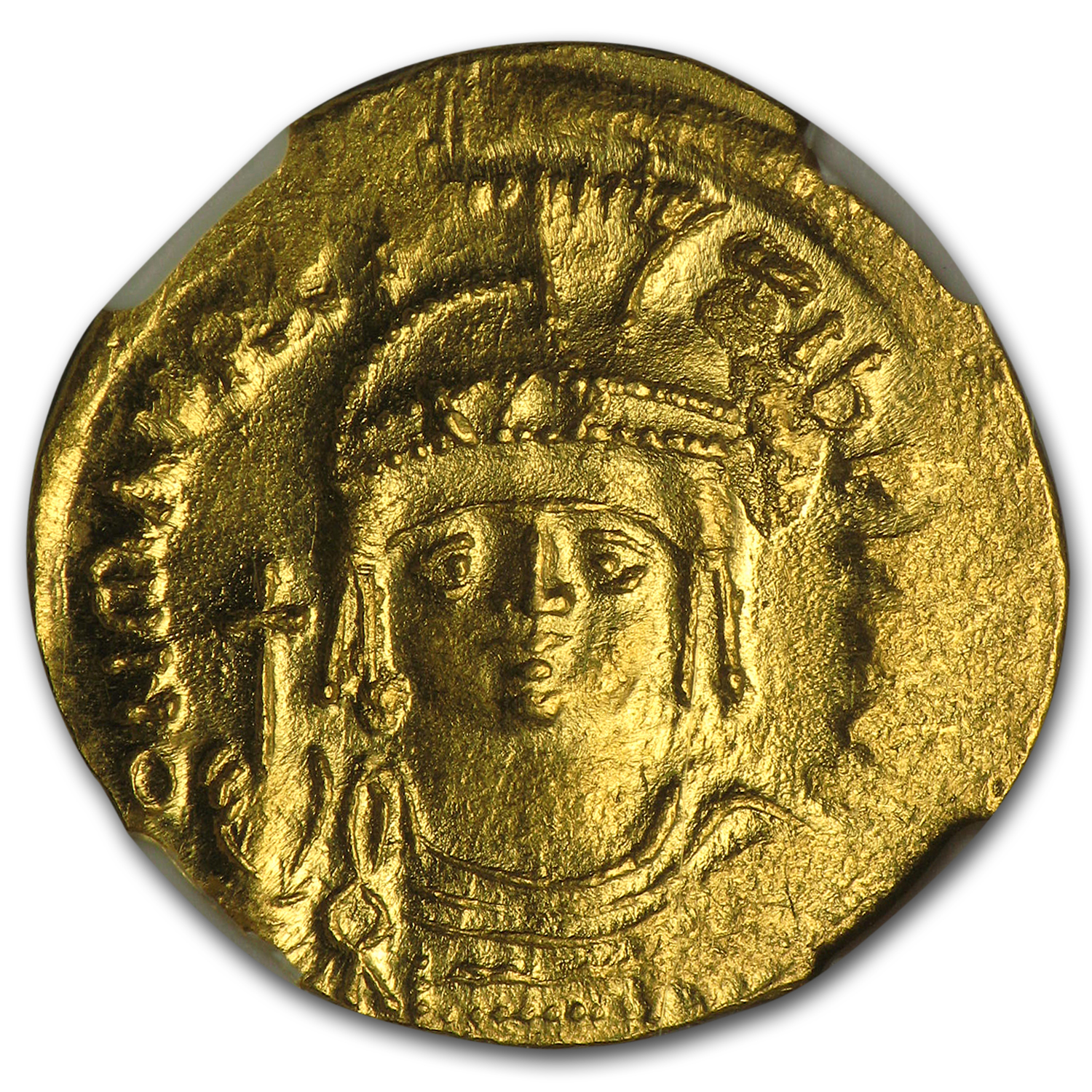 Byzantine Gold Solidus Maurice Tiberius (582-602 AD) MS NGC