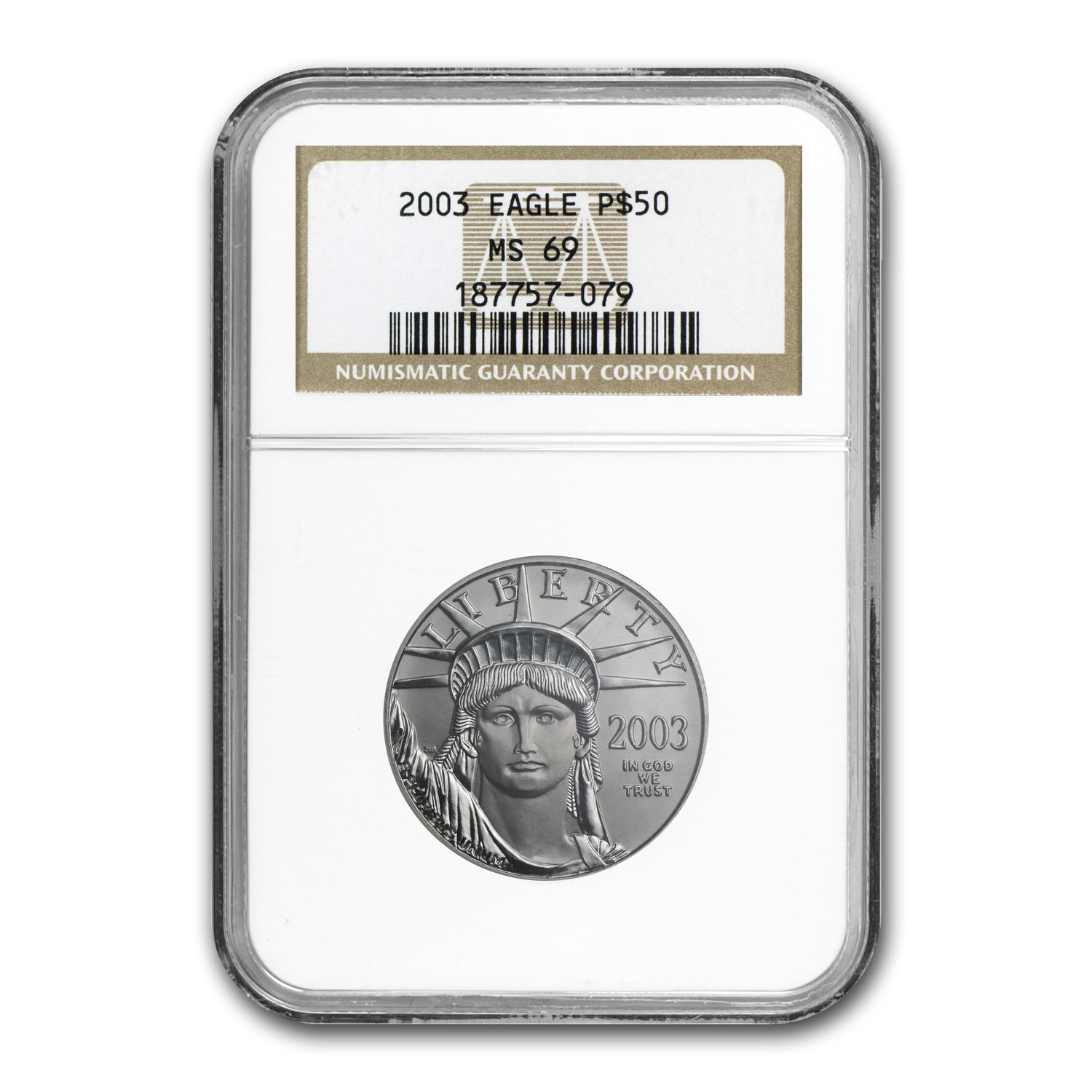 2003 1/2 oz Platinum American Eagle MS-69 NGC