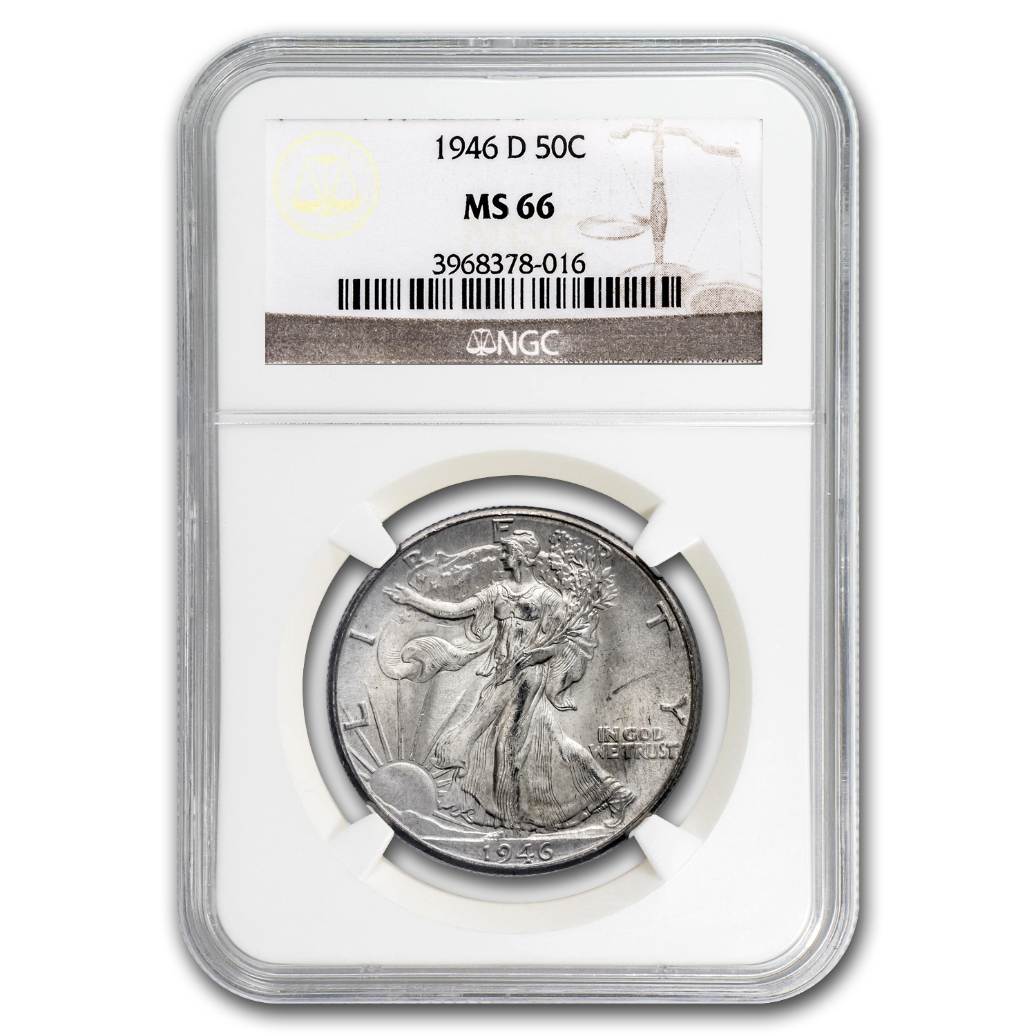 1946-D Walking Liberty Half Dollar MS-66 NGC