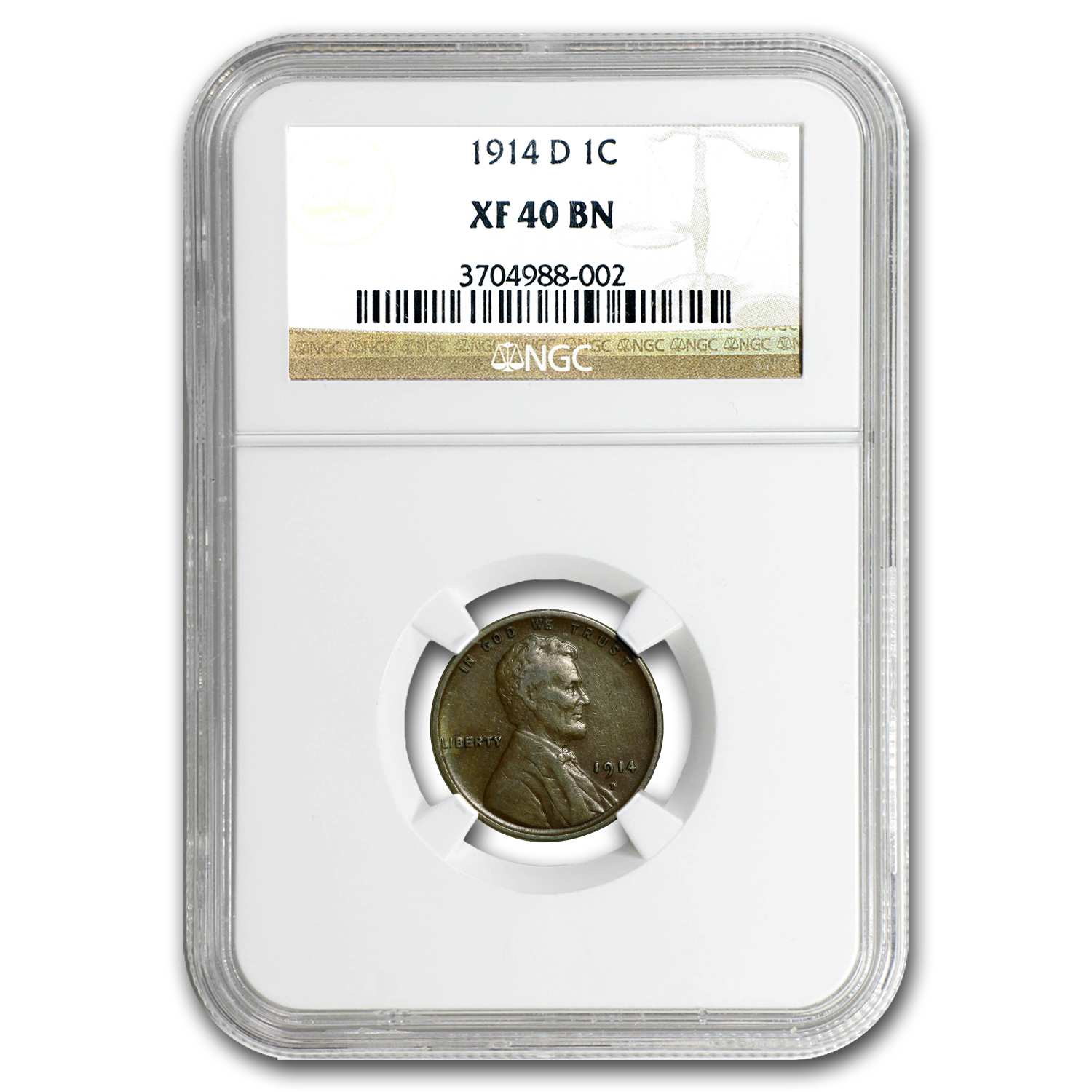 1914-D Lincoln Cent XF-40 NGC