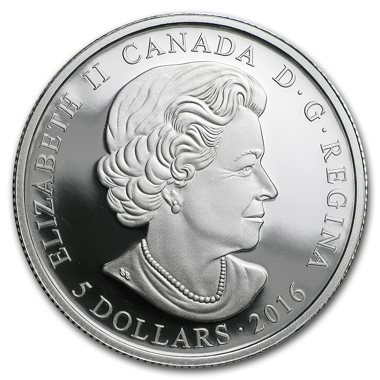 2016 Canada 1/4 oz Silver $5 Birthstones (March)