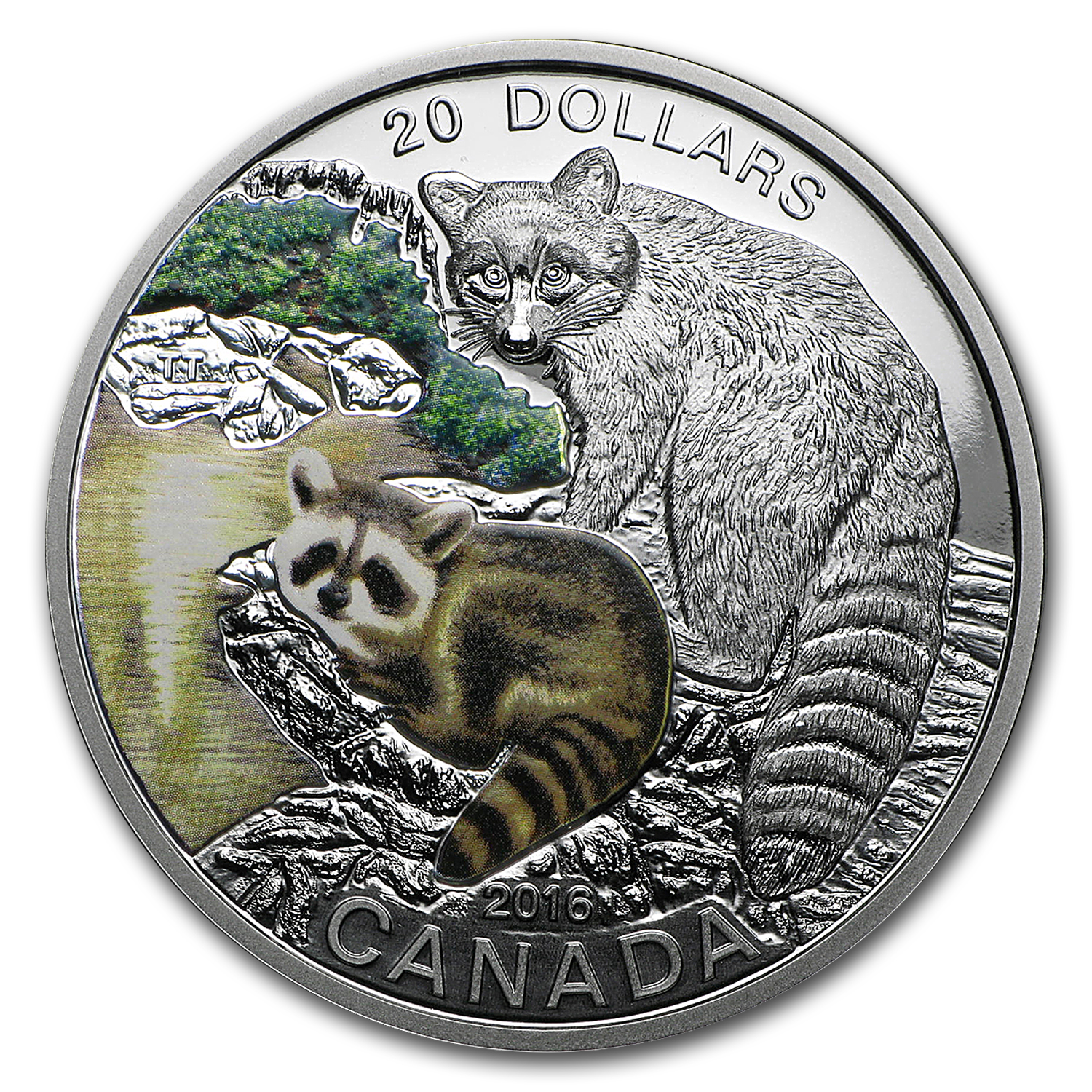 2016 Canada 1 oz Silver $20 Baby Animals (Raccoon)