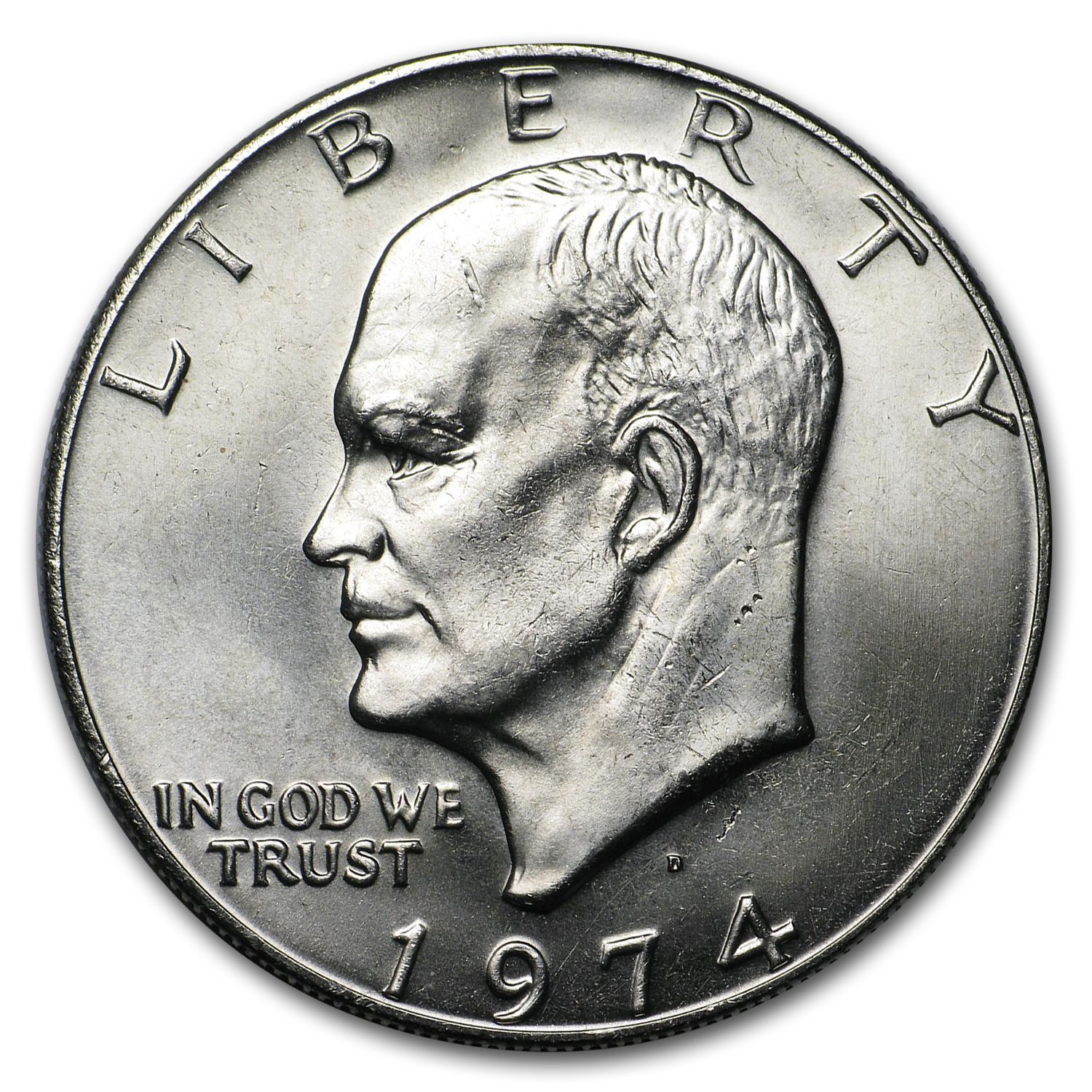 1974-D Clad Eisenhower Dollars 20-Coin Roll BU