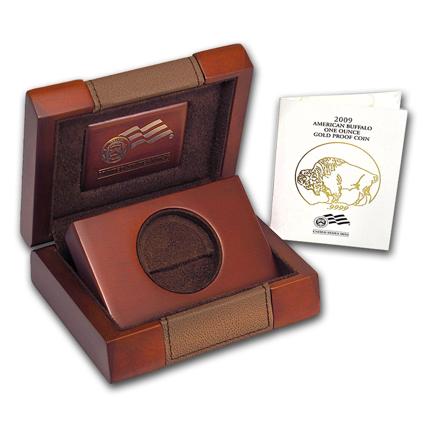 OEM Box & COA - 2009-W Proof 1 oz Gold Buffalo