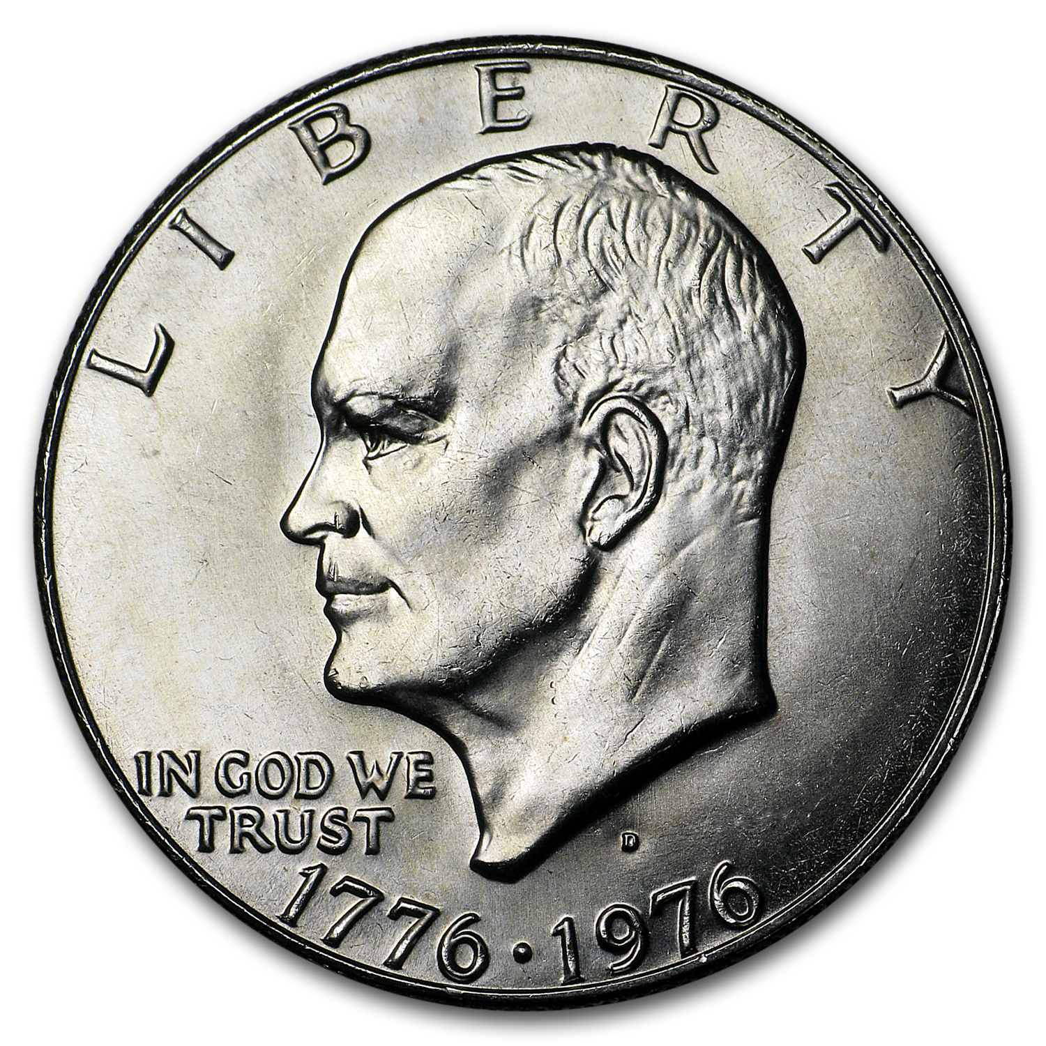 1976-D Clad Eisenhower Dollars 20-Coin Roll BU (Type-1)