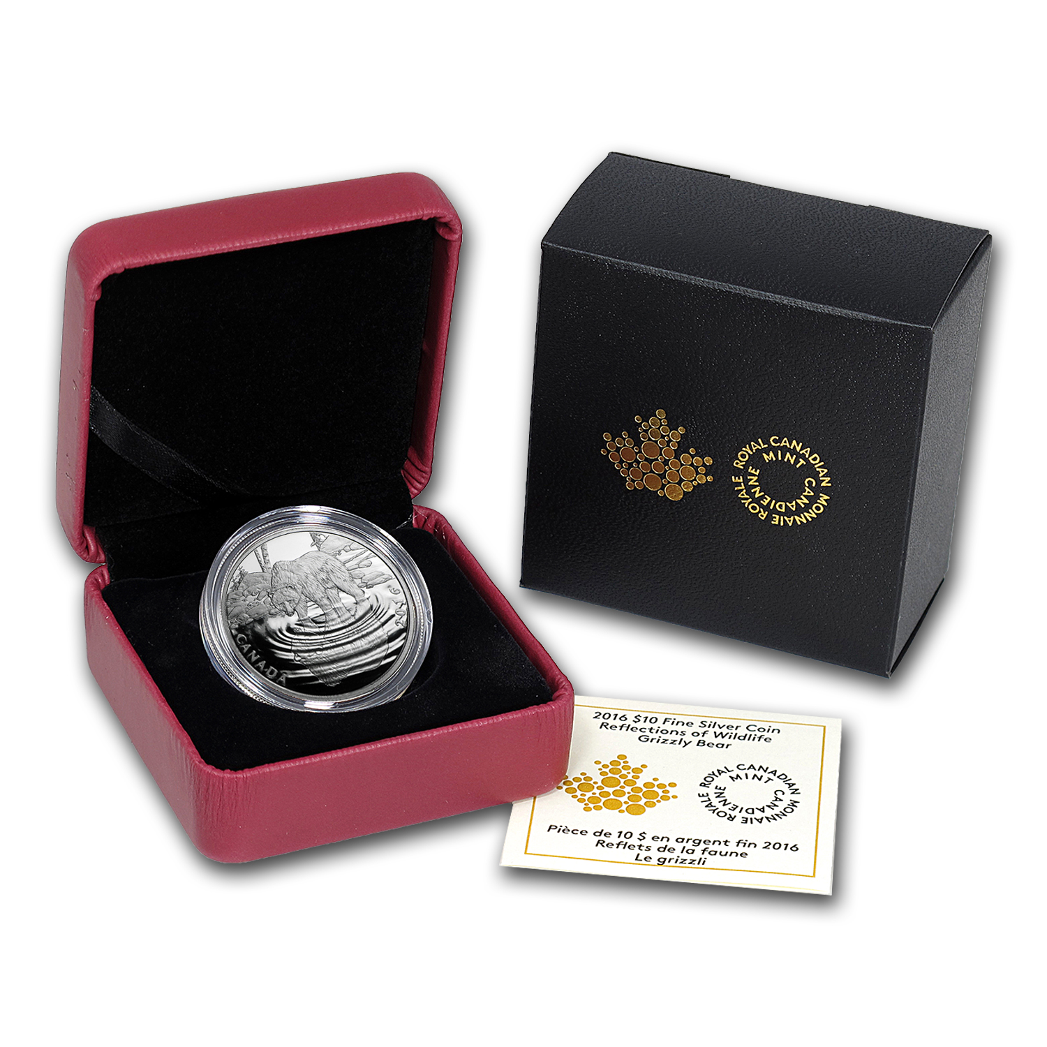 2016 Canada 1/2 oz Proof Silver Reflections $10 Grizzly Bear