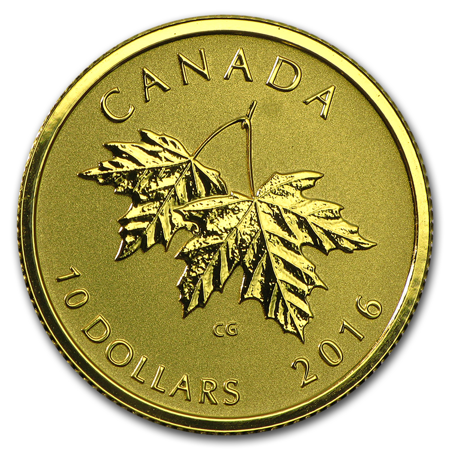 2016 Canada 1/4 oz Gold $10 Maple Leaf (2003 Queen Effigy)