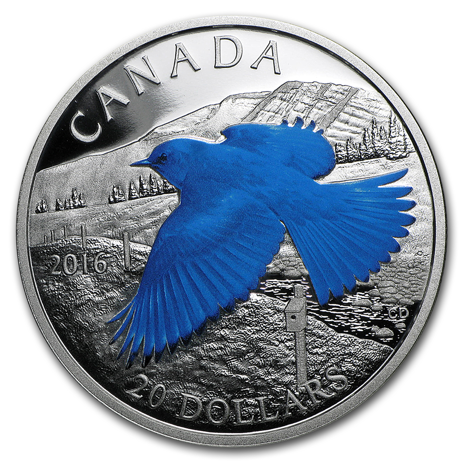 2016 Canada 1 oz Silver Migratory Birds (Mountain Bluebird)