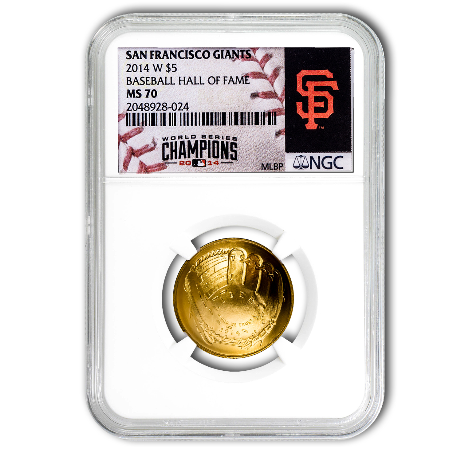 2014-W Gold $5 Commem HOF MS-70 NGC (San Francisco Giants)