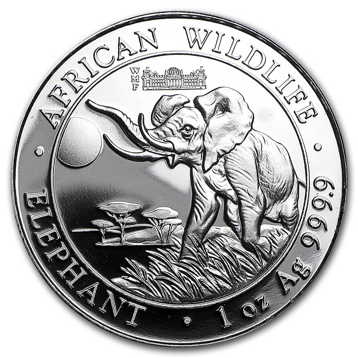 2016 Somalia 1 oz Silver Elephant (Berlin WMF Privy Mark)