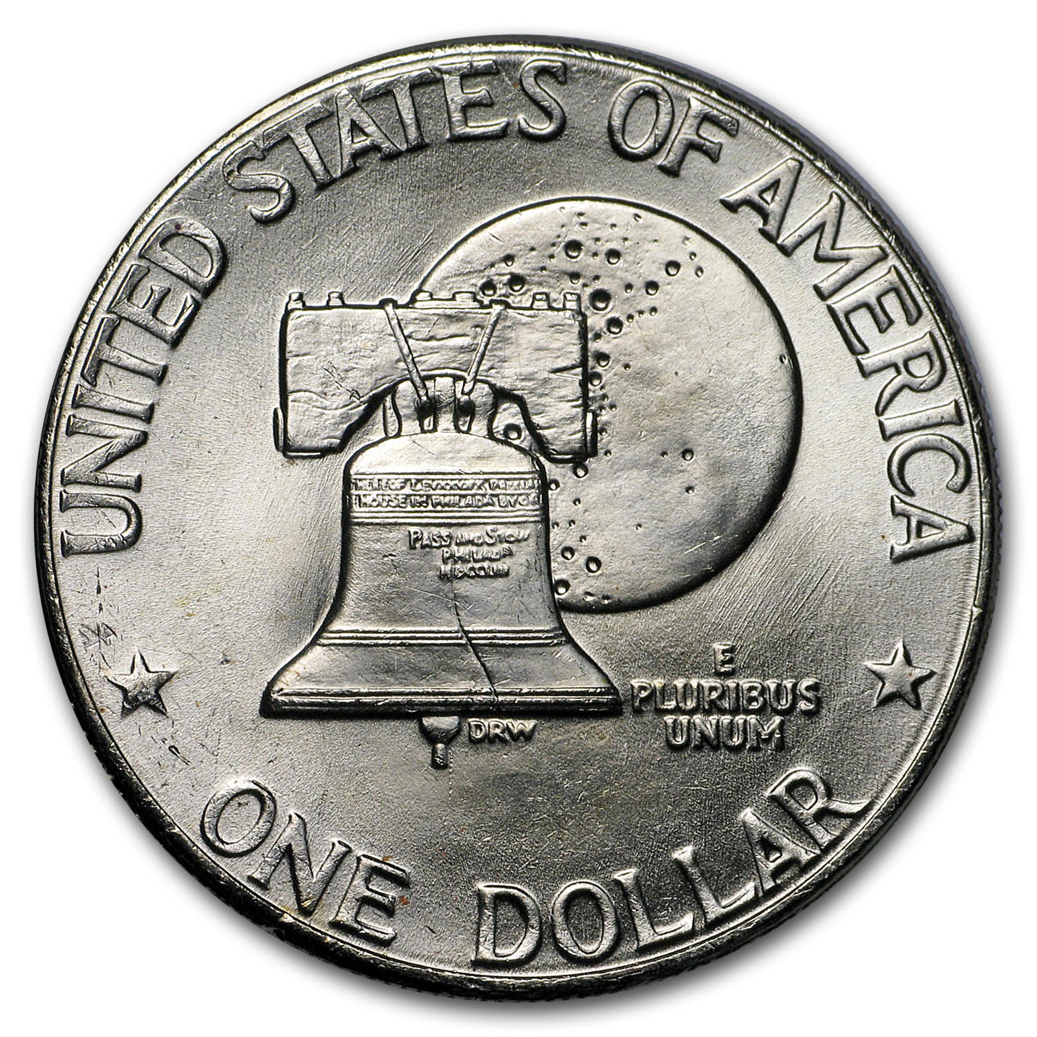 1976-D Clad Eisenhower Dollars 20-Coin Roll BU (Type-2)