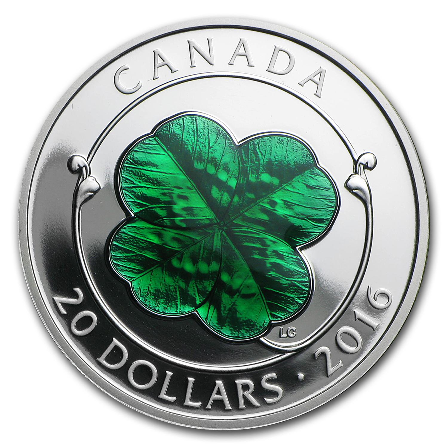 2016 Canada 1 oz Silver $20 Four-Leaf Clover Proof