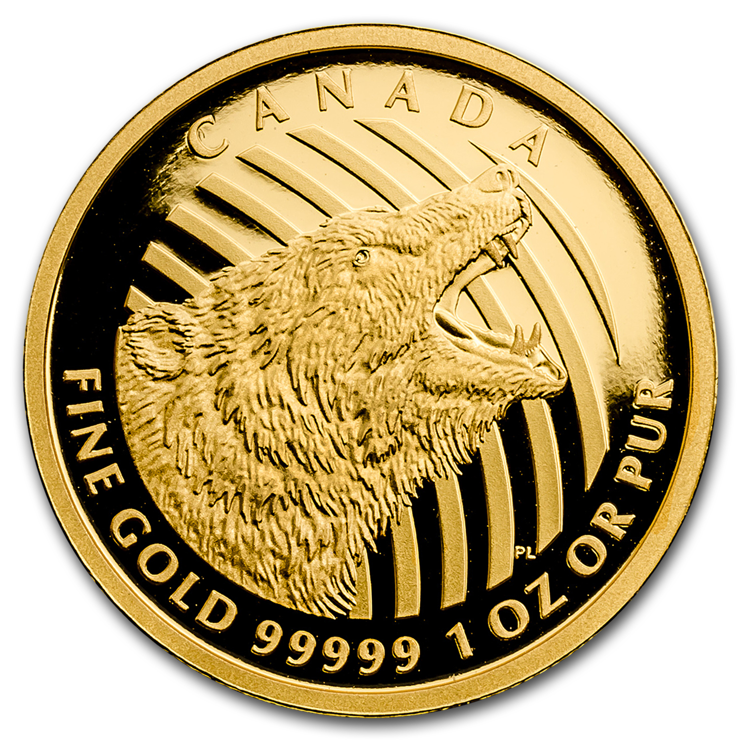 2016 Canada 1 oz Gold Roaring Grizzly Bear .99999 Proof