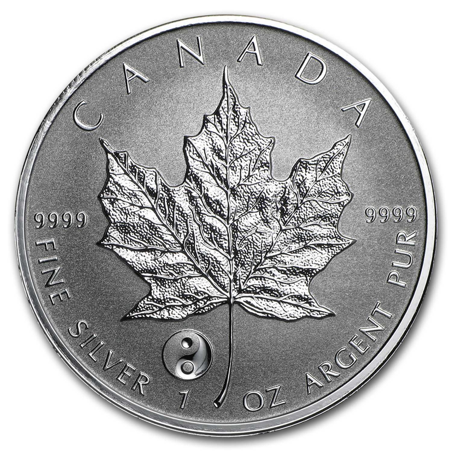 2016 Canada 1 oz Silver Maple Leaf Yin Yang Privy BU