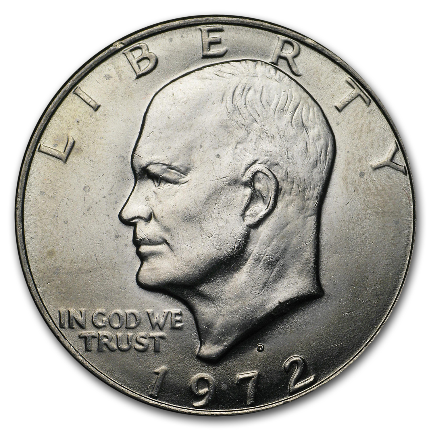 1972-D Clad Eisenhower Dollars 20-Coin Roll BU
