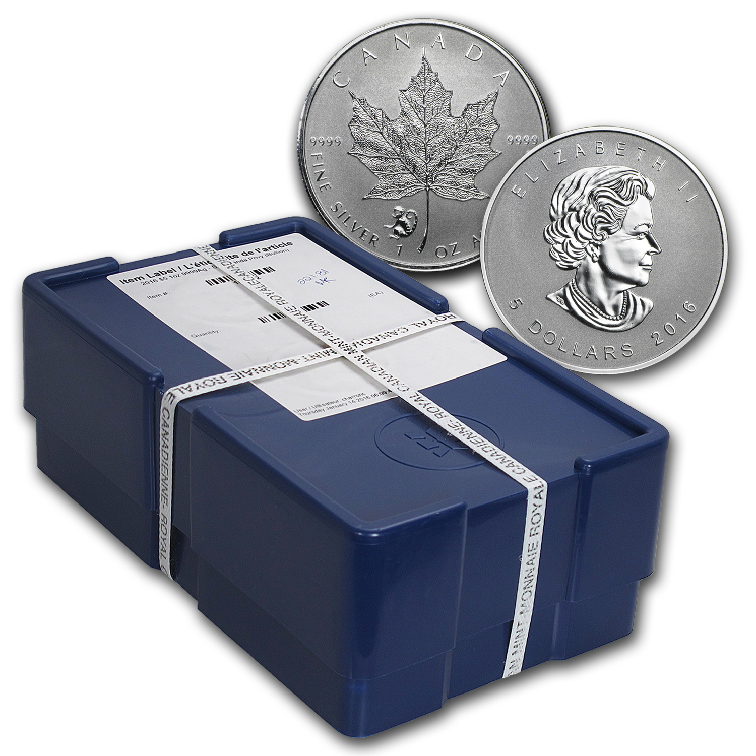 2016 500-Coin 1 oz Silver Maple Leaf Monkey Privy Box (Sealed)