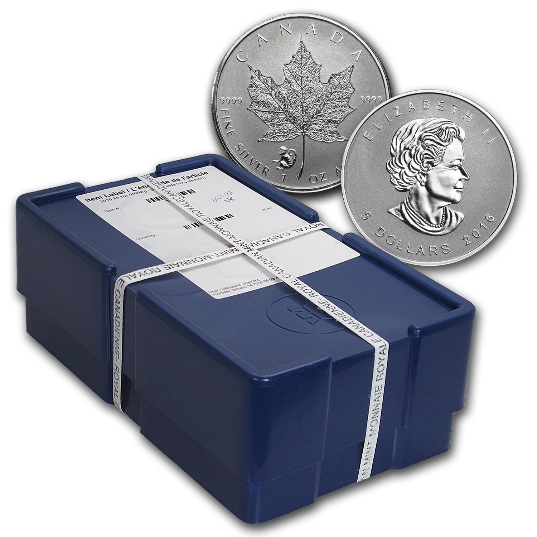 2016 500 Coin 1 Oz Silver Maple Leaf Monkey Privy Box