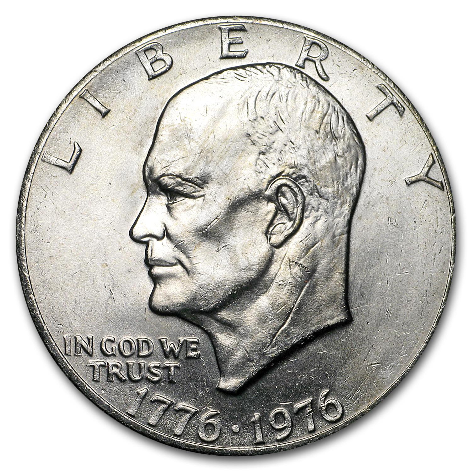 1976 Clad Eisenhower Dollars 20-Coin Roll BU (Type-2)