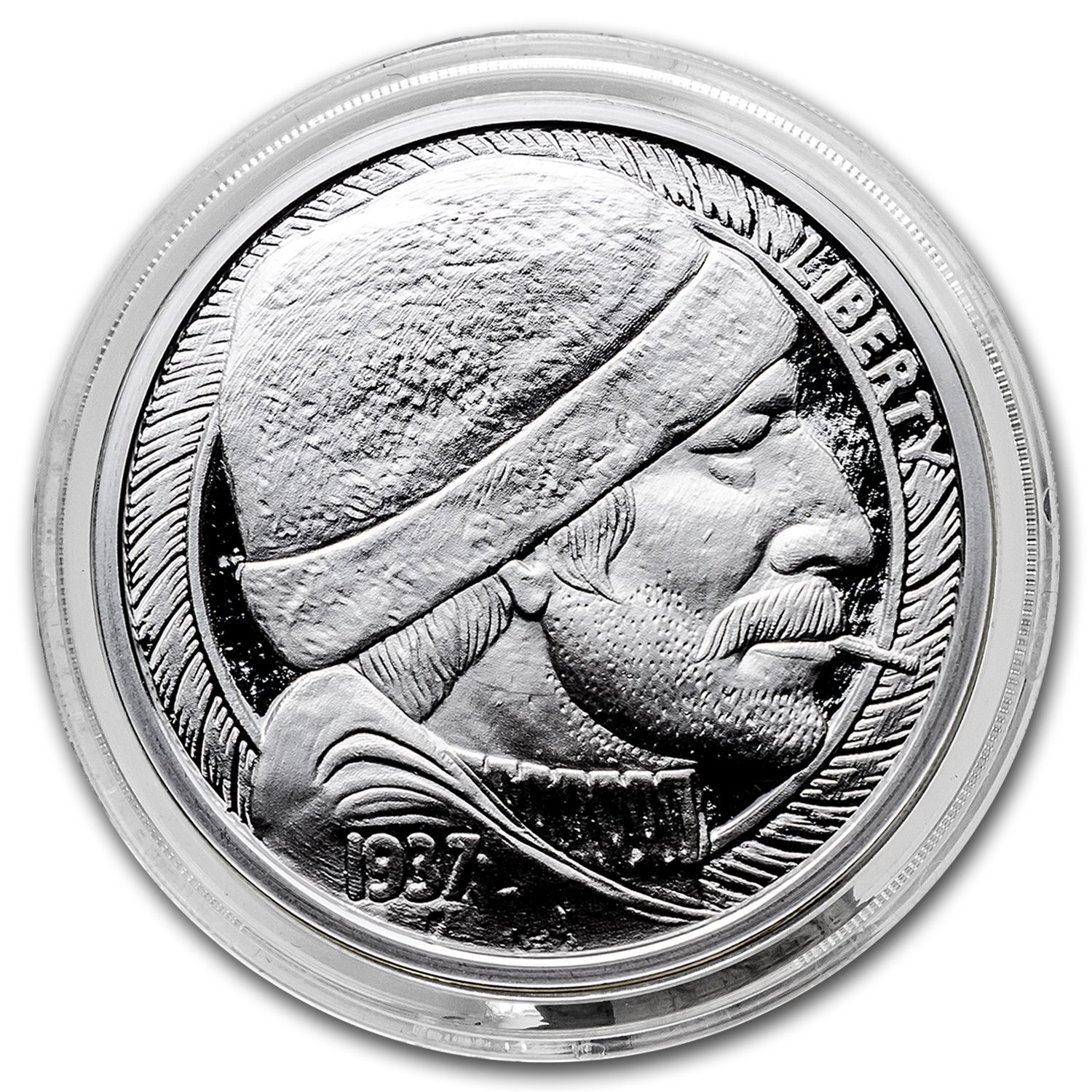 1 oz Silver Round - Hobo Nickel Replica (The Fisherman)