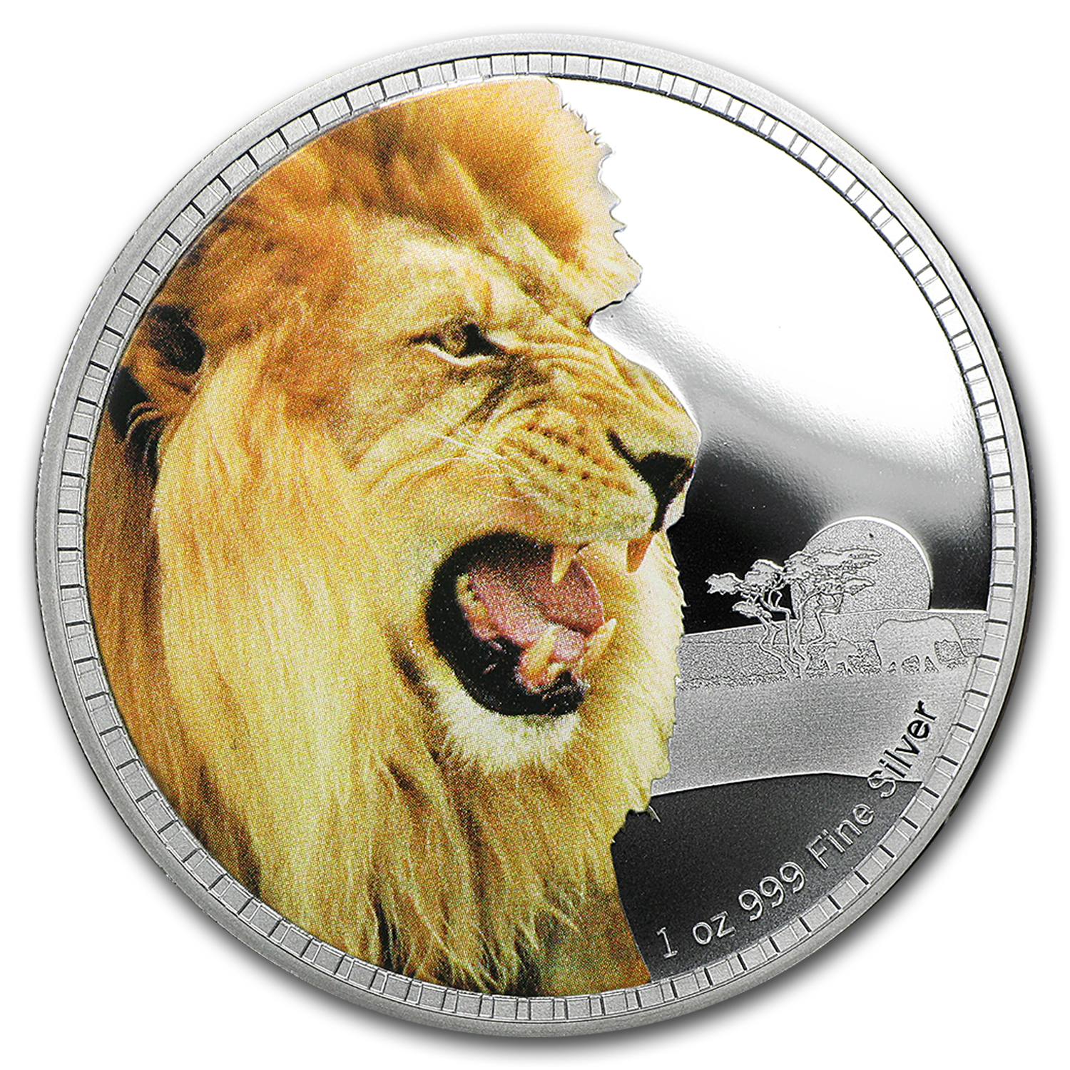 2016 Niue 1 oz Silver Kings of Continents African Lion