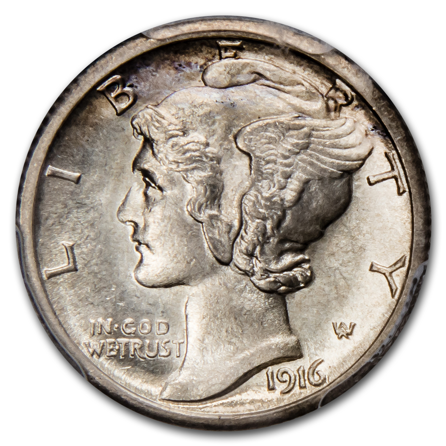 1916-S Mercury Dime MS-65 FB PCGS