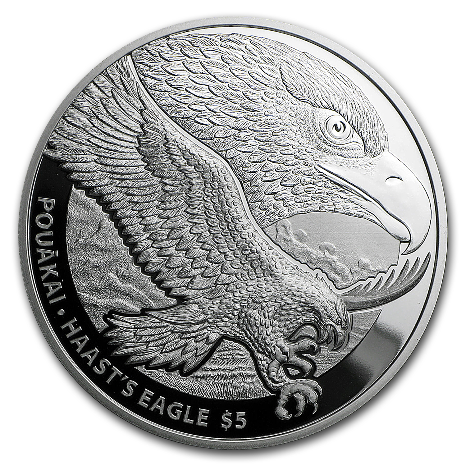 2016 New Zealand 1 oz Silver $5 Annual Coin: Haast's Eagle