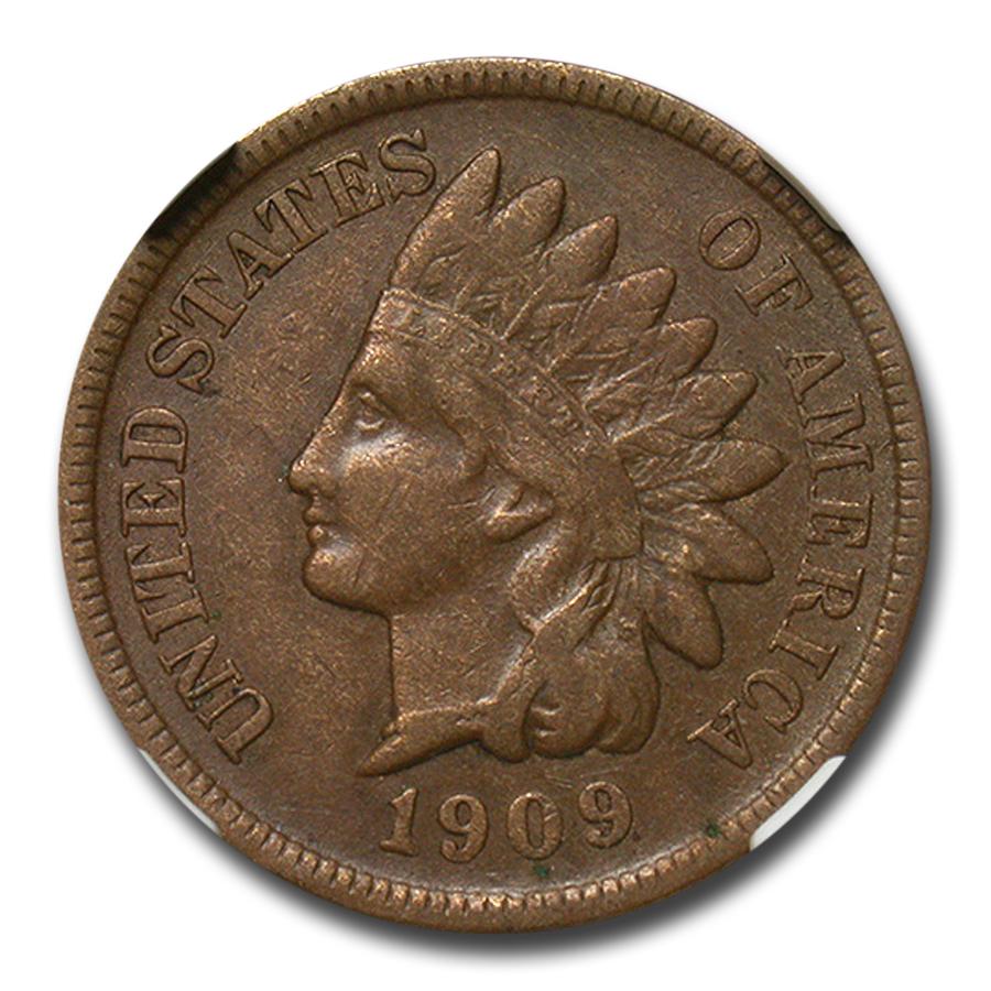 1909-S Indian Head Cent XF-40 NGC (Brown)