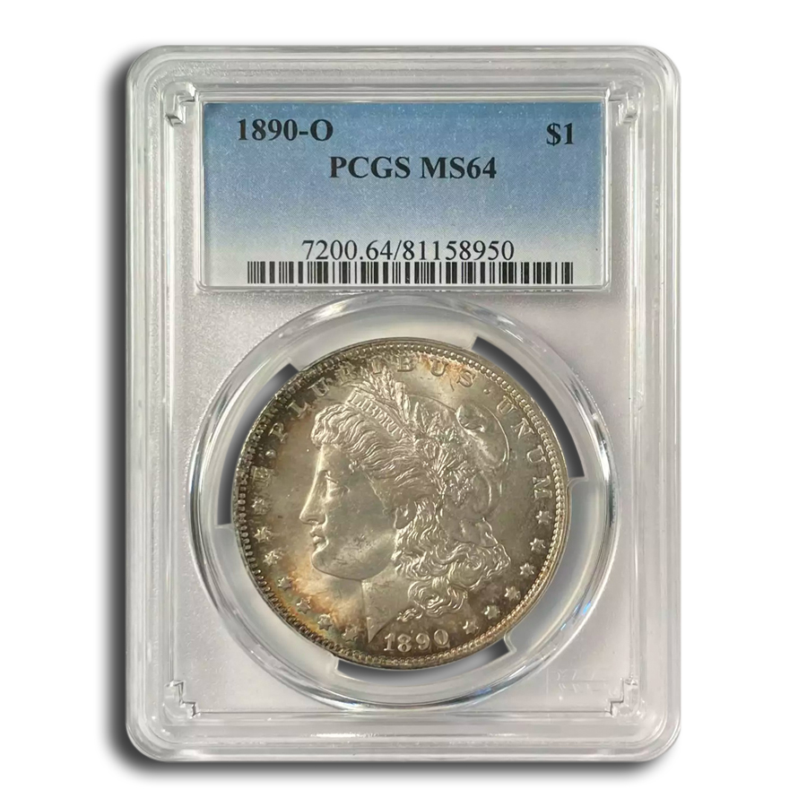1890-O Morgan Dollar MS-64 PCGS (Toned)