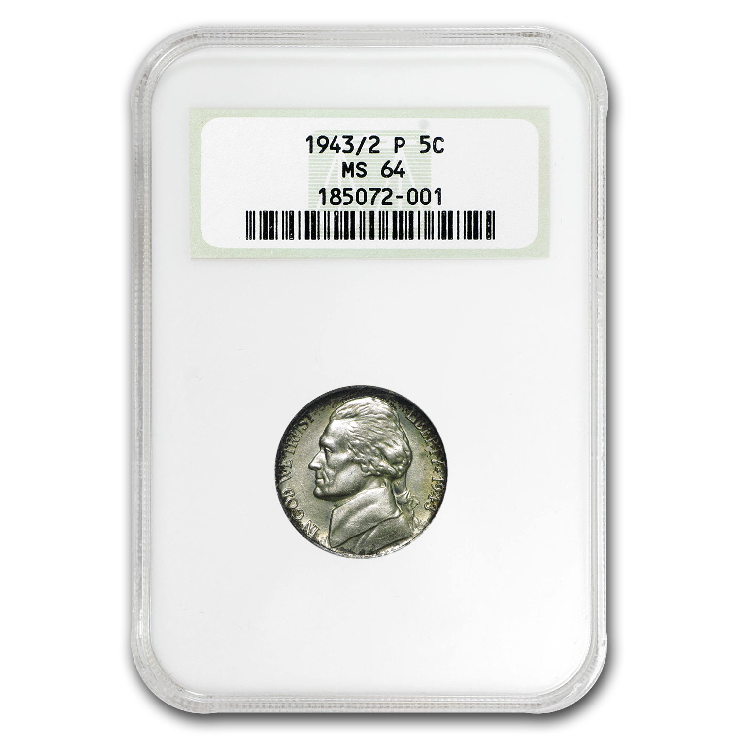 1943/2 Jefferson Nickel MS-64 NGC