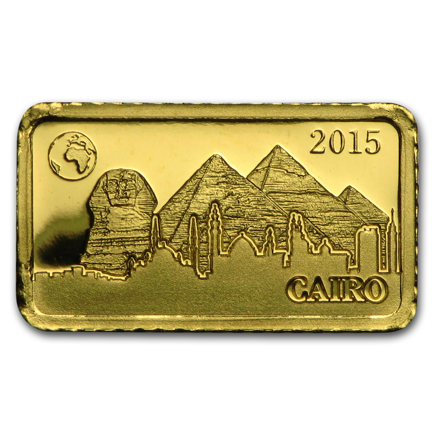 2015 Solomon Islands 1 gr Gold Landmarks of the World (Giza)