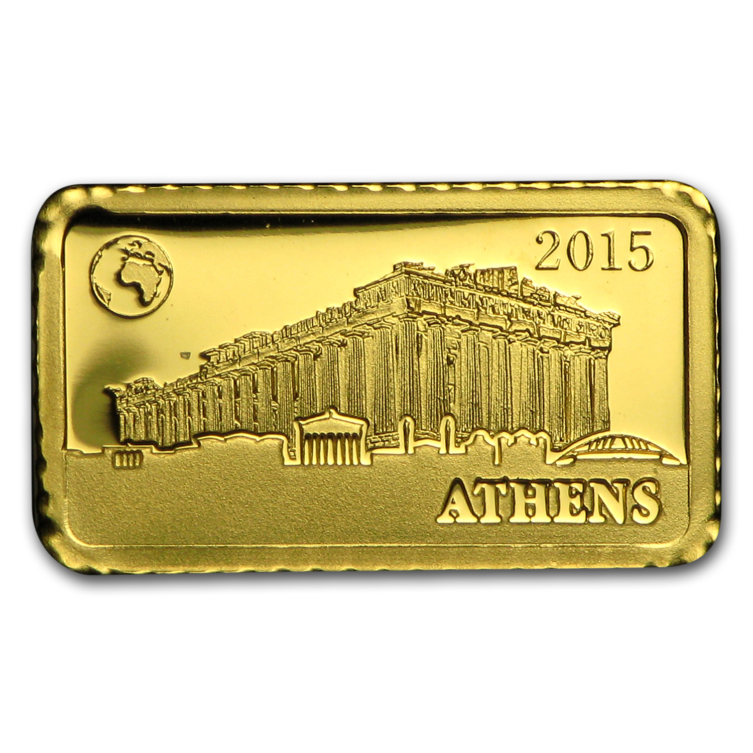 2015 Solomon Islands 1 gr Gold Landmarks of the World (Athens)