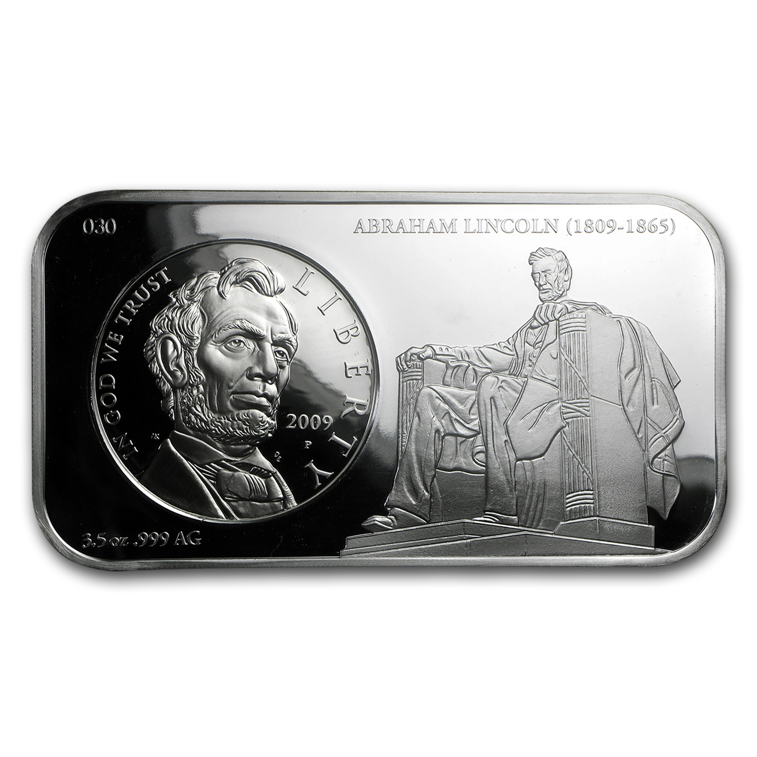 2009-P Abraham Lincoln $1 Silver Commem Silver Bar Proof