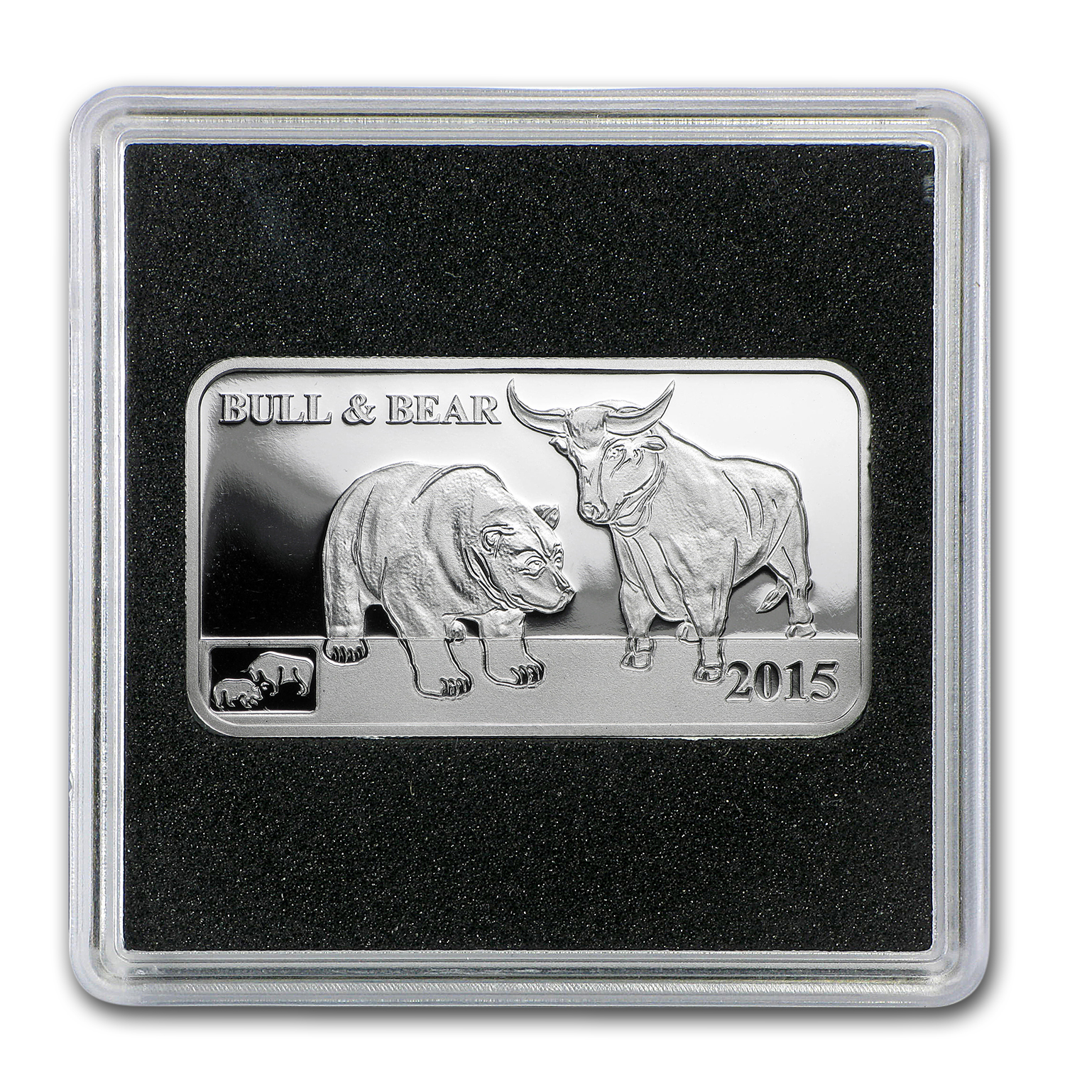 2015 Cook Islands 1/2 oz Silver Global Trade Bull & Bear