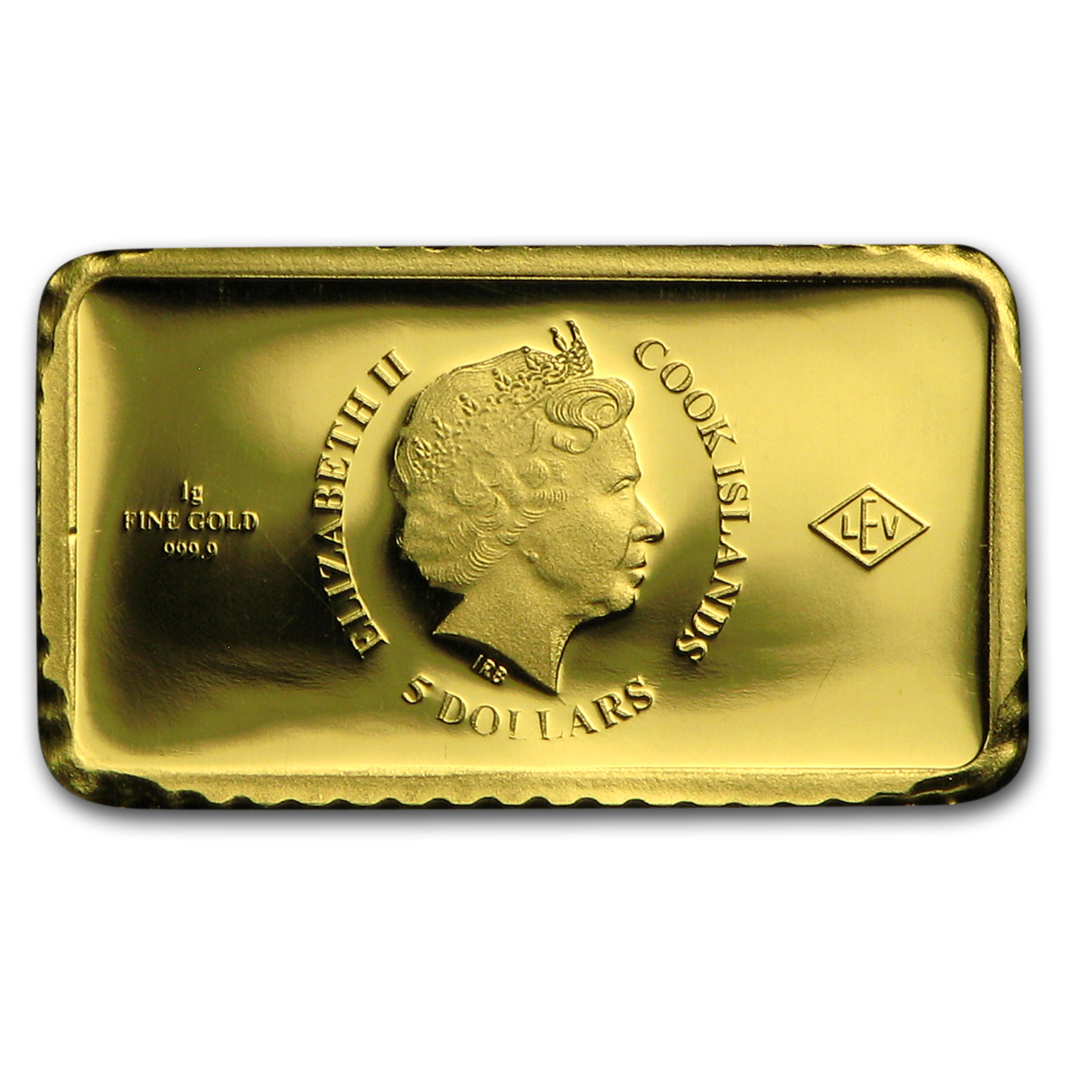 2015 Cook Islands 1g Gold Global Trade California Gold Rush