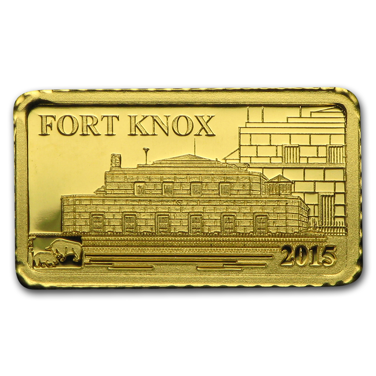 2015 Cook Islands 1g Gold Global Trade Fort Knox