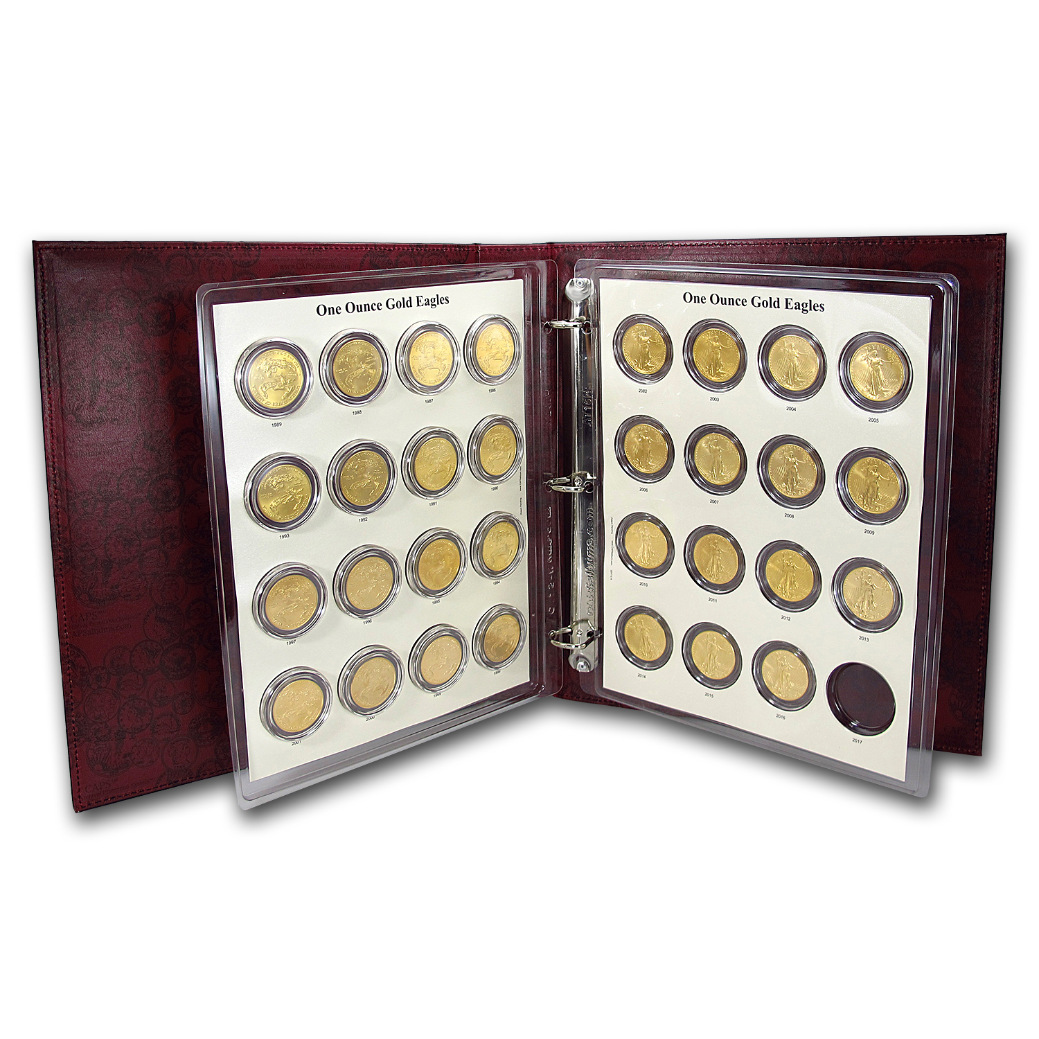 1986-2016 31-Coin 1 oz Gold Eagle Set BU (CAPS Album)