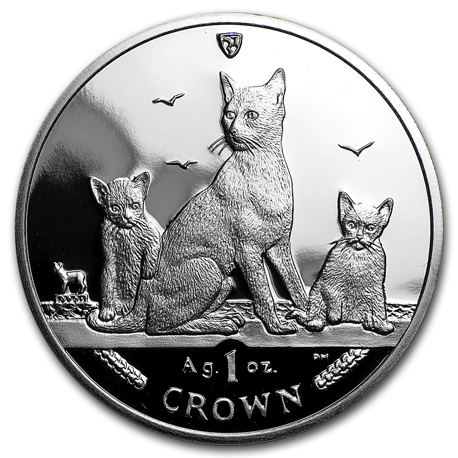 2016 Isle of Man 1 oz Silver Brown Cat Proof