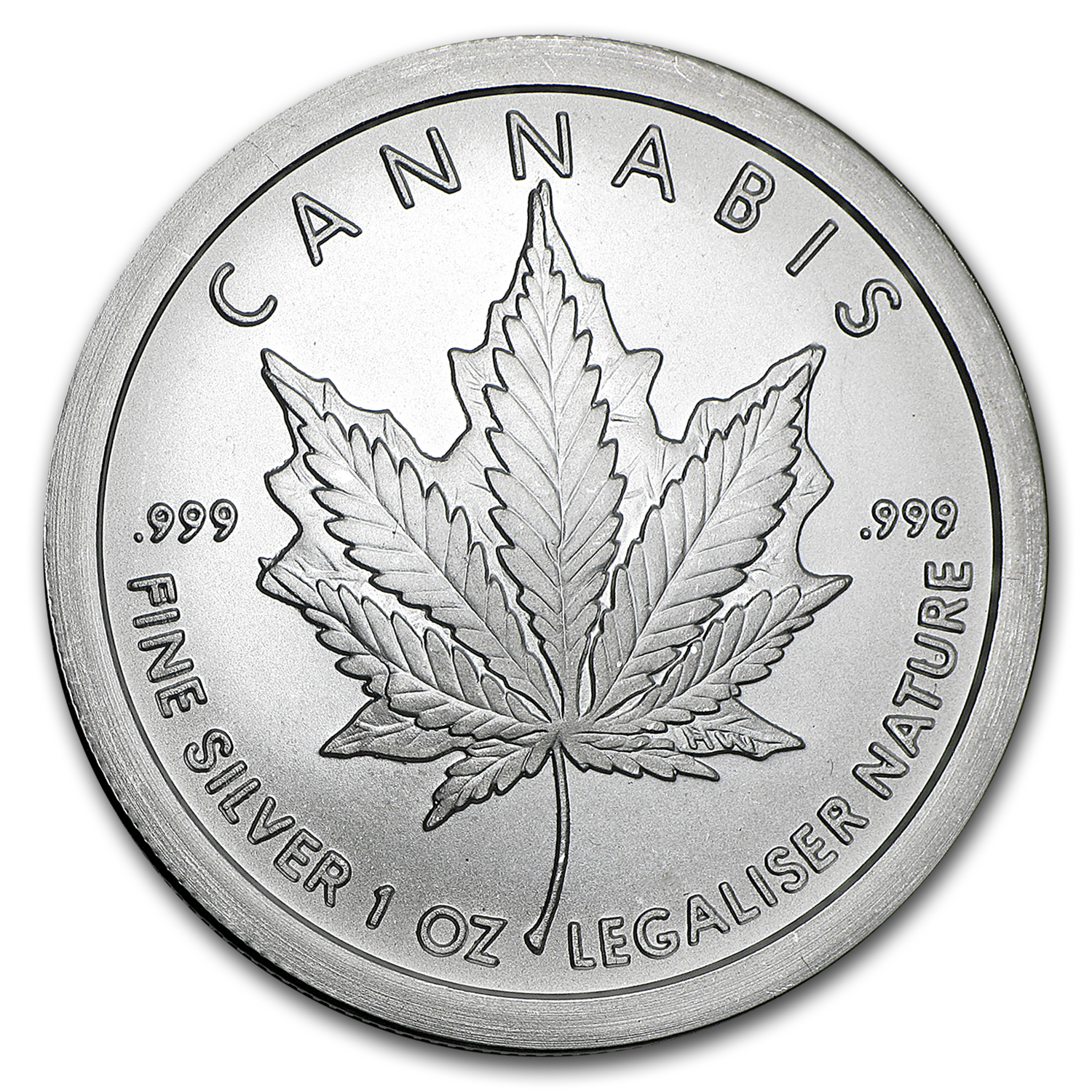 2016 1 oz Silver Shield Round - Cannabis